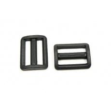 Plastové průvleky šíře 25 mm  P černý