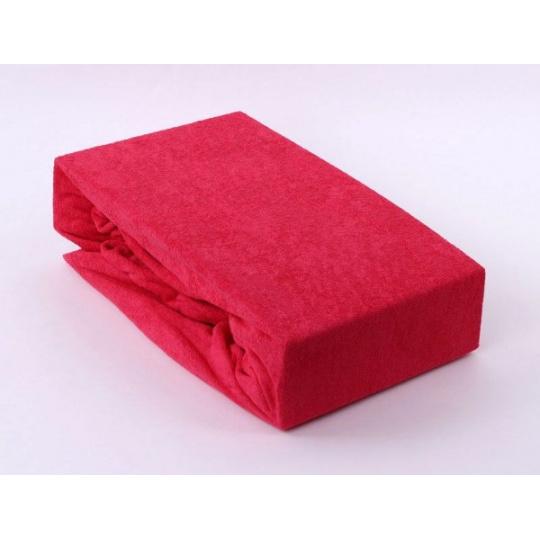 Froté prostěradlo dvoulůžko Exclusive - červená 180x200 cm  varianta červená