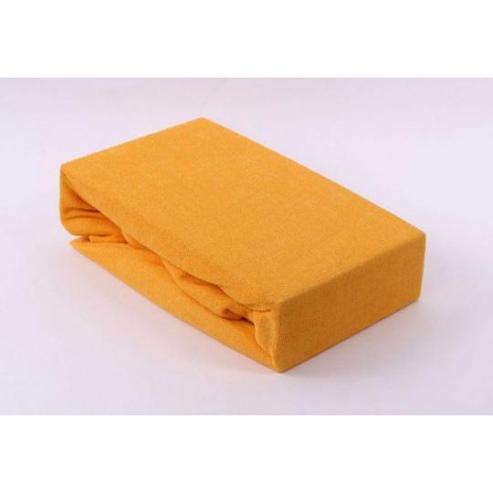 Exclusive Froté prostěradlo dvoulůžko - žlutá 180x200 cm  varianta žlutá