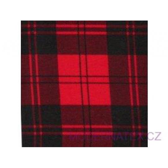 Flanelová látka černé-červená 8x8 cm 790 šíře 160 cm