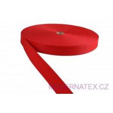 Polypropylénový popruh 25 mm červený (balení 50 m)