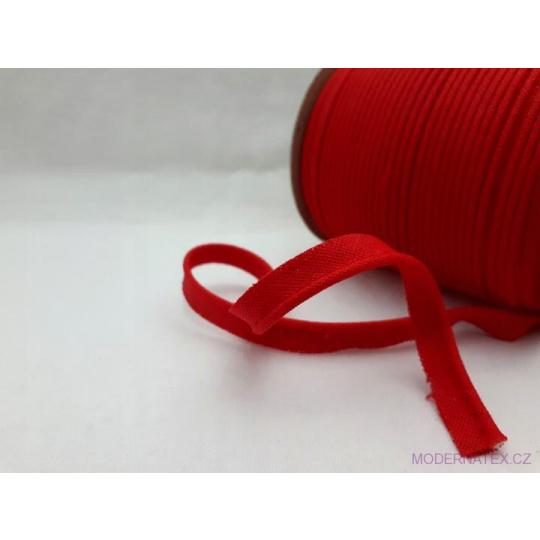 Paspulka výpustek bavlněná barva červená 148