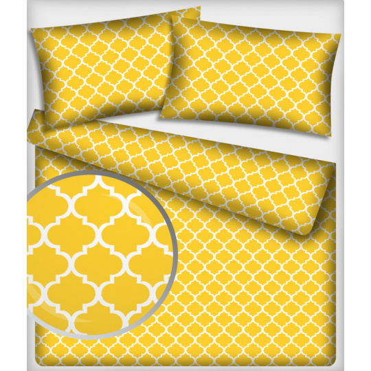 Bavlněná látka vzor marokko, barva žlutá 288