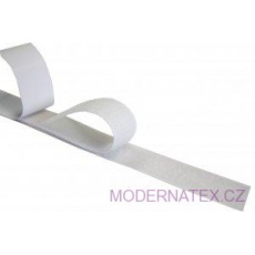 Pásek na suchý zip s lepidlem bílý 30  mm