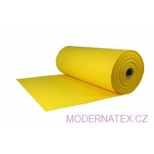 Technický filc 4 mm barva žlutá