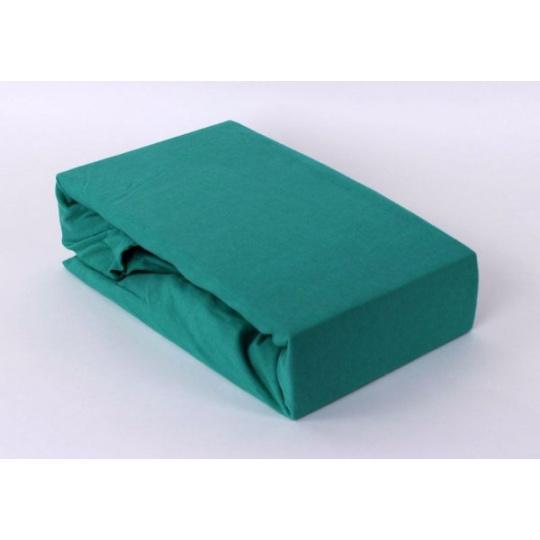 Exclusive Jersey prostěradlo dvoulůžko - zelená 200x220 cm  varianta zelená