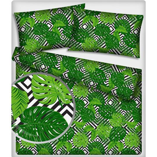 481 Bavlněné látky Listy zelené