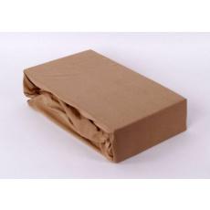 Exclusive Jersey prostěradlo - bežová 160x200 cm varianta bežová