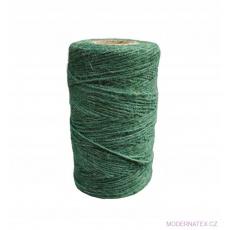 Šnůra pletená jutová 100gr, 31m barva zelená