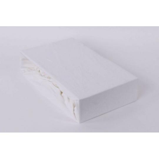 Exclusive Jersey prostěradlo dvoulůžko - bílá 180x200 cm  varianta bílá
