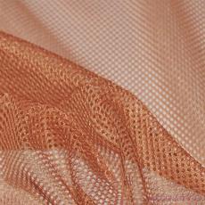 Síť polyesterová, Síťovina pro oděvů malinovo pomerančová - DZ-008-148  2mm x 2mm