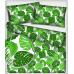 496 Bavlněné látky vzor Listy zelené