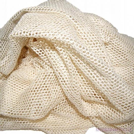 Síť bavlněná, bavlna 100% drobné oko 3x3 mm