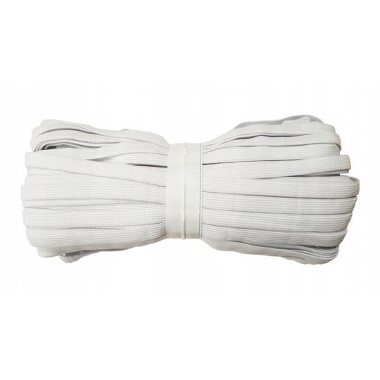 Plochá guma bílá 5 mm, metráž