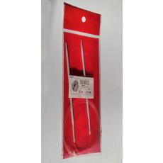 Pletací jehlice kruhové RED  80cm 4 mm