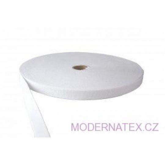Guma  pro šití oděvů, šíře 18 mm bílá  balení 25 m elastan