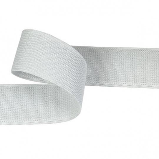 Zip elastický 20 mm barva bílá  balení 25 m