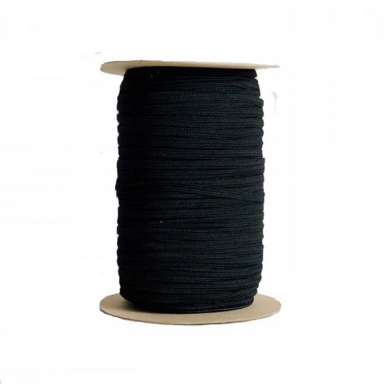 Plochá guma bílá 5 mm, černá 100 m