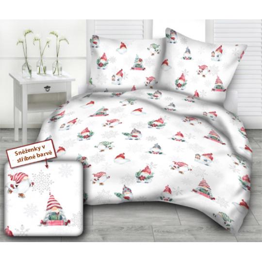 Vánoční vzory bavlněné látky, metráž 3386B