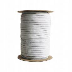 Plochá guma bílá 5 mm, bílá 200 m