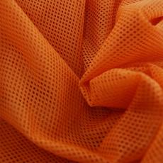 Síť polyesterová, Síťovina pro oděvů pomerančová - DZ-008-148  2mm x 2mm