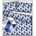 Bavlněné látky vzor trojúhelníky 9 cm 481