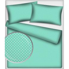 7 mm Bavlněné látky vzor Puntík barva mentolová