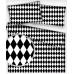 Bavlněné látky vzor Geo Ornament černý
