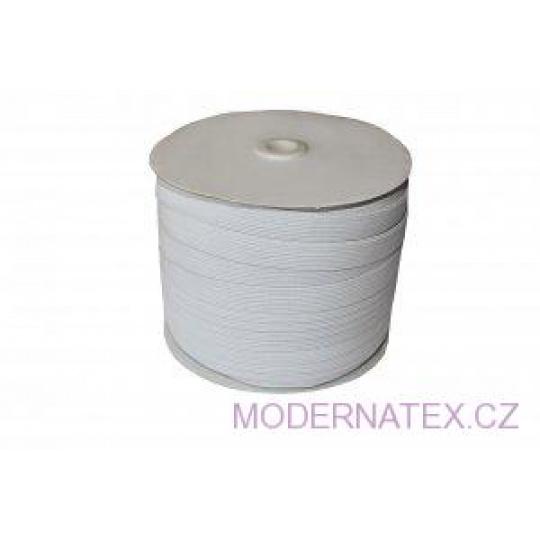Guma prádlová šíře 15 mm bílá balení 100 m