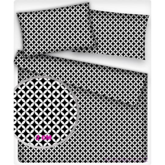 Bavlněné látky vzor MINI MAROKO černé 2 cm