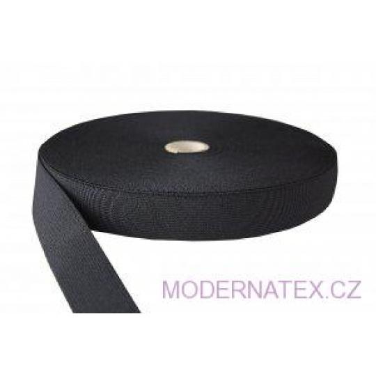 Guma  pro šití oděvu  šíře 30 mm černá  balení 25 m