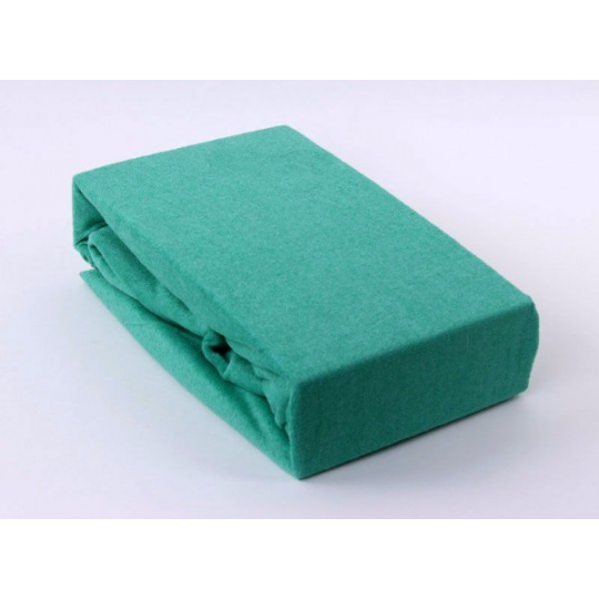 Exclusive Froté prostěradlo dvoulůžko - zelená 180x200 cm  varianta zelená