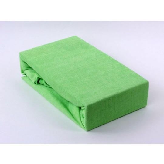 Exclusive Froté prostěradlo dvoulůžko - zelená 200x220 cm  varianta zelená