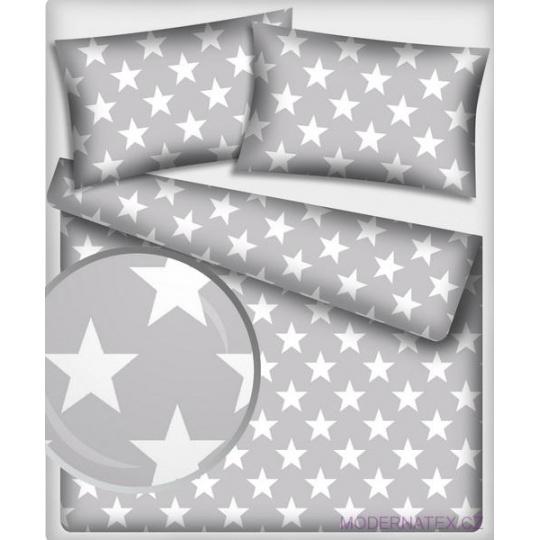 12 cm Velké  hvězdy bílé na šedém podkladu