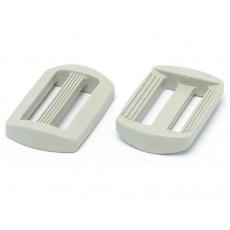 Plastové průvleky šíře 25 mm  P bílý