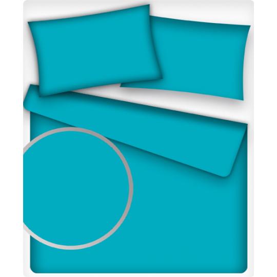 Jednobarevná bavlněná látka barva TYRKYS 24