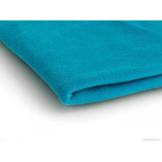 Látka Micro fleece barva tyrkys 14