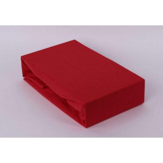 Exclusive Jersey prostěradlo jednolůžko - červená 90x200 cm varianta červená