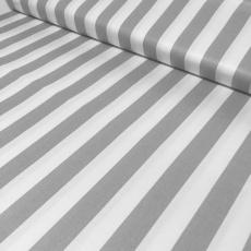 Bavlněné látky PROUŽEK  šedý 20 mm