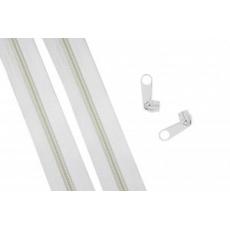 Zip spirálový bílý 5 mm metráž