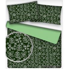 Vánoční dekoráční bavlněné látky vzor VÁNOCE 3 na zeleném