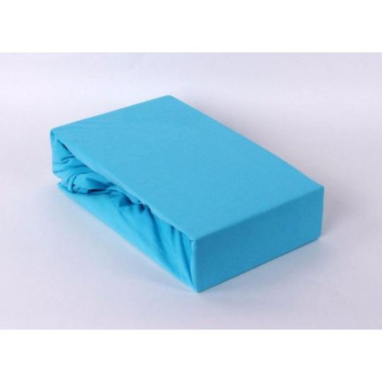 Exclusive Jersey prostěradlo dvoulůžko - modrá 200x220 cm  varianta modrá