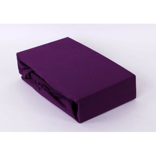 Exclusive Jersey prostěradlo dvoulůžko - fialová 200x220 cm  varianta fialová