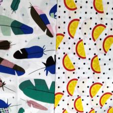 Bavlněné dětské látky AKCE KUS 1,6 m x 95 cm (50cm+45cm=95 cm)