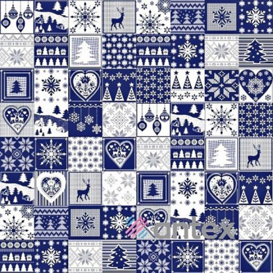 Świąteczna tkanina bawełniana wzór 004