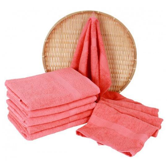 Darsi froté ručník 50x100 cm barva koralová
