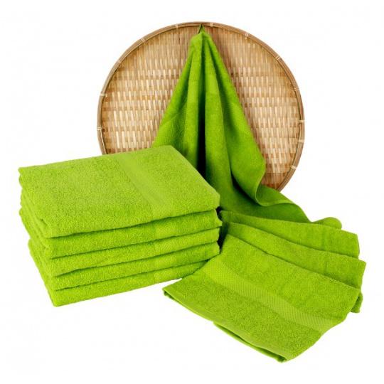 Darsi froté ručník 50x100 cm barva jarní zelená