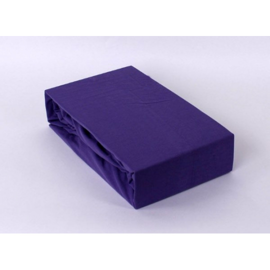 Exclusive Jersey prostěradlo - fialová 160x200 cm varianta fialová