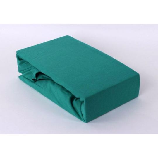 Jersey prostěradlo jednolůžko Exclusive- zelená 90x200 cm  varianta zelená