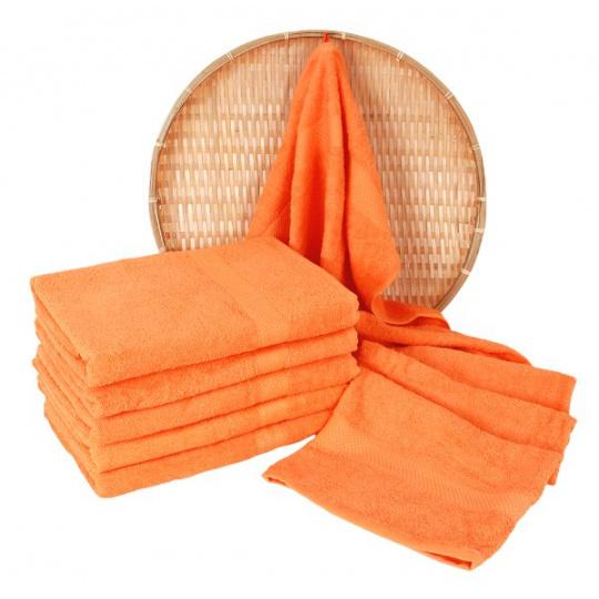 Froté osuška 70x140 cm barva oranžová